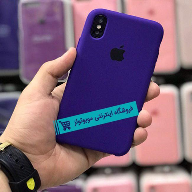 قاب سیلیکونی آیفون مناسب برای کلیه گوشی های iphone (نیلی سیر)