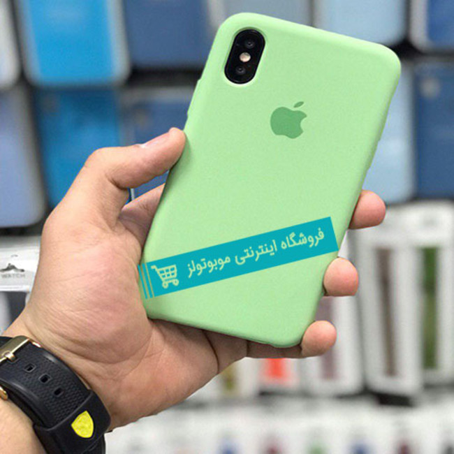 قاب سیلیکونی آیفون مناسب برای کلیه گوشی های iphone (سبز کمرنگ)