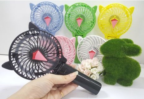 پنکه دستی همراه مدل hand fan تاشو سبز
