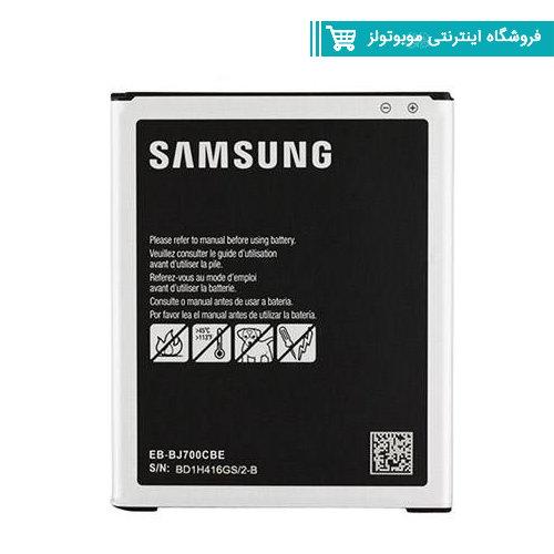 باتری موبایل مدل J700 با ظرفیت 3000mAh مناسب برای گوشی موبایل Galaxy J7(با60 روز گارانتی تعویض)