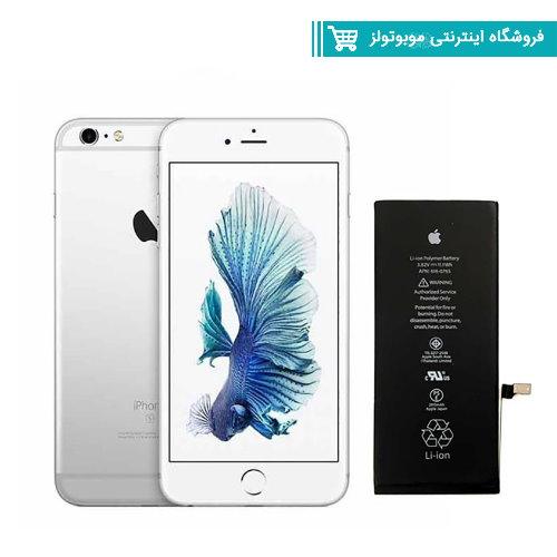 باتری موبایل مدل Iphone 6s با ظرفیت 1715mAh مناسب برای گوشی موبایل  Iphone 6s (با60 روز گارانتی تعویض)