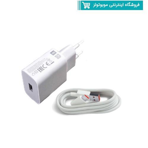 شارژر دیواری شیائومی Poco X3 به همراه کابل تبدیل USB-C