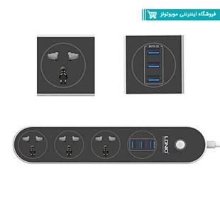 چندراهی برق و شارژر USB الدینیو مدل SC3301