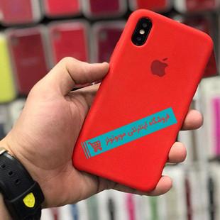 قاب سیلیکونی آیفون مناسب برای کلیه گوشی های iphone (قرمز – نارنجی)