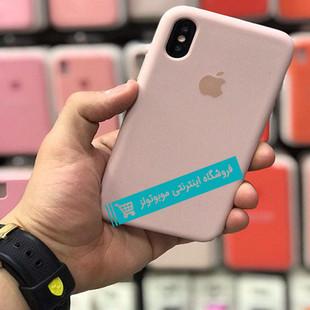 قاب سیلیکونی آیفون مناسب برای کلیه گوشی های iphone (صورتی مات)