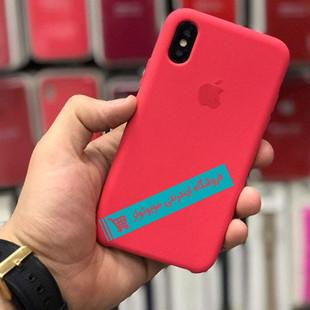 قاب سیلیکونی آیفون مناسب برای کلیه گوشی های iphone (شرابی)