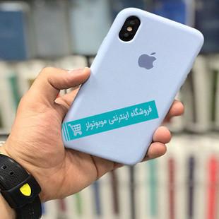 قاب سیلیکونی آیفون مناسب برای کلیه گوشی های iphone (آبی روشن)