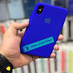 قاب سیلیکونی آیفون مناسب برای کلیه گوشی های iphone (آبی سیر)