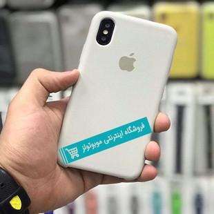 قاب سیلیکونی آیفون مناسب برای کلیه گوشی های iphone (سفید بنفشه)