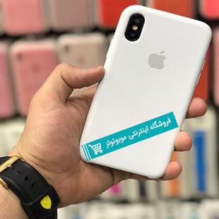 قاب سیلیکونی آیفون مناسب برای کلیه گوشی های iphone (شیری)