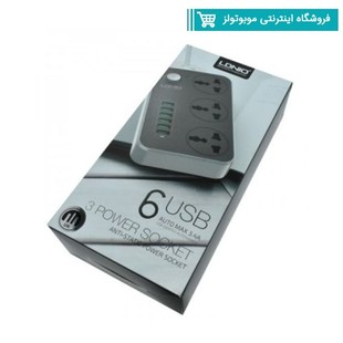 LDNIO SC3604 3.4A Power Socket with 3 AC + 6 USB Charger