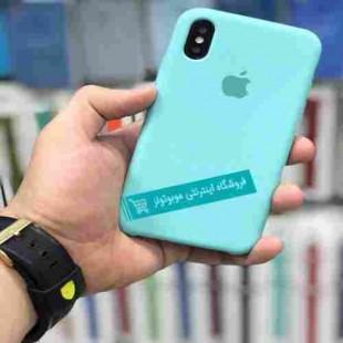 قاب سیلیکونی آیفون مناسب برای کلیه گوشی های iphone (فیروزه ای)