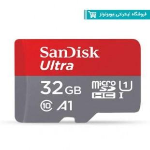 کارت حافظه microSDHC سن دیسک مدل Ultra A1 کلاس 10 استاندارد UHS-I سرعت 98MBps ظرفیت 32 گیگابایت به همراه آداپتور SD با گارانتی ایران رهجو.jpg