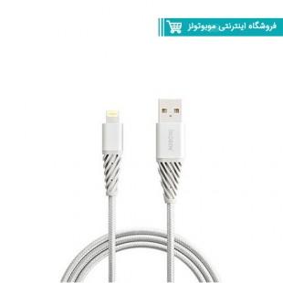 کابل کنفی گارانتی دار USB به Lightning  آینوبن مدل MFI Braided نقره ای30103