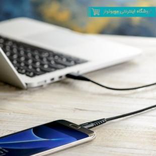 کابل کنفی گارانتی دار USB به microusb آینوبن مدل Braided مشکی