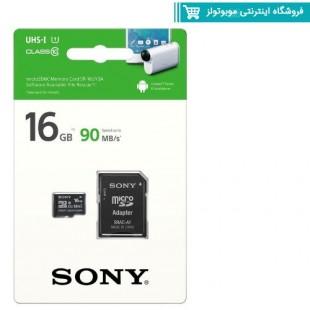 کارت حافظه SONY SR-16UYA3 Class 10 90MBps 16GB microSDHC With Adapter
