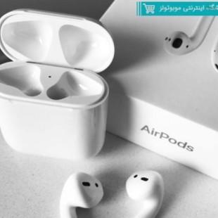 هدفون بی سیم مدل AirPods دو گوش متصل طرح اصلی