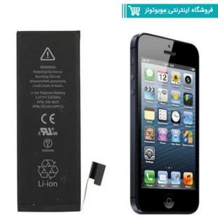 باتری موبایل مدل Iphone 5 مناسب برای گوشی موبایل Iphone 5(با60 روز گارانتی تعویض)