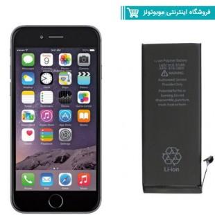 باتری موبایل مدل Iphone 6  با ظرفیت 1810mAh مناسب برای گوشی موبایل Iphone 6 (با60 روز گارانتی تعویض)