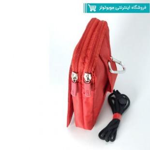 کیف برزنتی دوشی و کمری قرمز