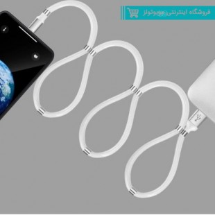 Blueland 2020 New Design Fashionable Portable Easy Coil Magnetic Charging Cable Supercalla Cable with Magnet Collapsible Data Cable Type C.jpg