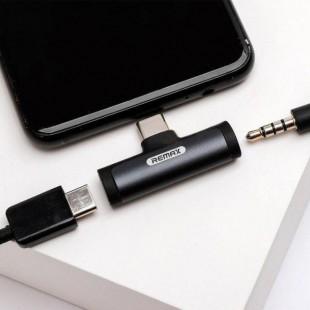 مبدل USB-C به AUX/ USB-C ریمکس مدل RL-LA03a