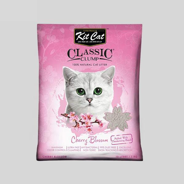خاک بستر گربه کیت کت مدل Cherry Blossom وزن 7 کیلوگرم