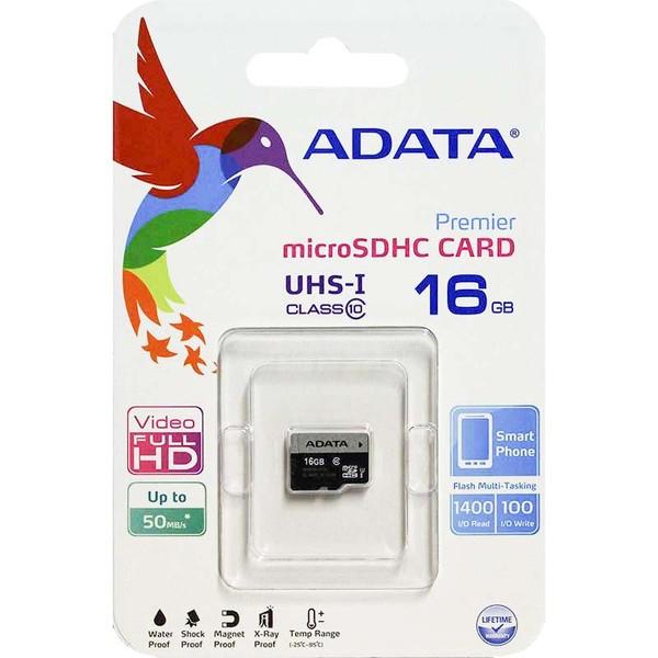 رم ADATA Micro Class 10 U1 50MB/S 16GB بدون خشاب