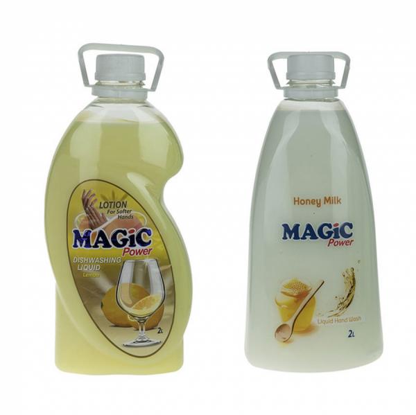 مایع ظرفشویی مجیک پاور مدل Lemon به همراه مایع دستشویی مجیک پاور مدل Honey Milk