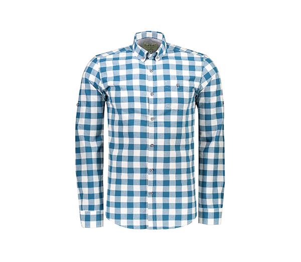 پیراهن آستین بلند مردانه – آرا – سبزآبی