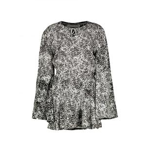 پیراهن کوتاه زنانه – دثار – مشکی سفید