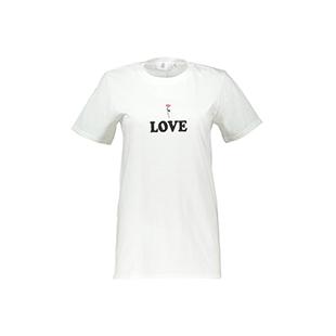 تی شرت نخی یقه گرد زنانه – میسگایدد – سفید