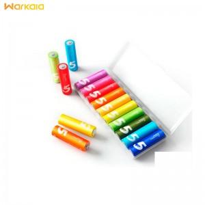 باتری قلمی رنگین کمانی شیائومی Xiaomi Rainbow Zi5 AA 1.5 V Battery Pack Of 10