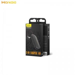 مبدل لایتنینگ به لایتنینگ و جک 3.5 میلیمتری صدا بیسوس Baseus GAMO iP to Dual iP & 3.5mm Adapter L47