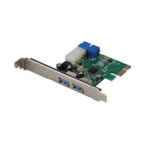 PCIE دو پورت USB 3.0 همراه با جای پنل جلوی کیس