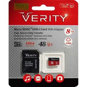 رم Verity Micro Class 10 U1 48MB/s 8GB