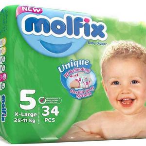 پوشک مولفیکس سایز 5 بسته 4+30 عددی
