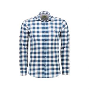 پیراهن یقه برگردان مردانه – آرا – آبی