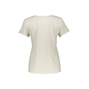 تی شرت نخی آستین کوتاه زنانه – اتام – کرم