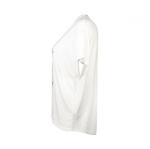 تی شرت یقه گرد زنانه – آر ان اس – زرشکی – نیو لوک – سفید
