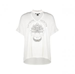 تی شرت یقه ایستاده زنانه – نیو لوک – سفید