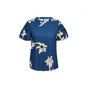 تی شرت یقه گرد زنانه – اونلی – سرمه ای