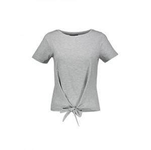 تی شرت یقه گرد زنانه – آبجکت – طوسی روشن