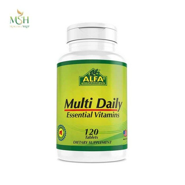 مولتی دیلی آلفا ویتامین | Alfa Vitamins Multi Daily Essential Vitamins