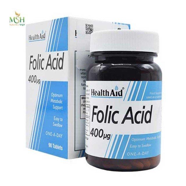 فولیک اسید 400 میکروگرم  هلث اید | Health Aid Folic Acid 400 µg