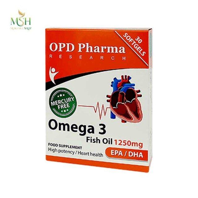 روغن ماهی 1250 میلی گرم او پی دی فارما | OPD Pharma Omega 3 Fish Oil 1250 mg