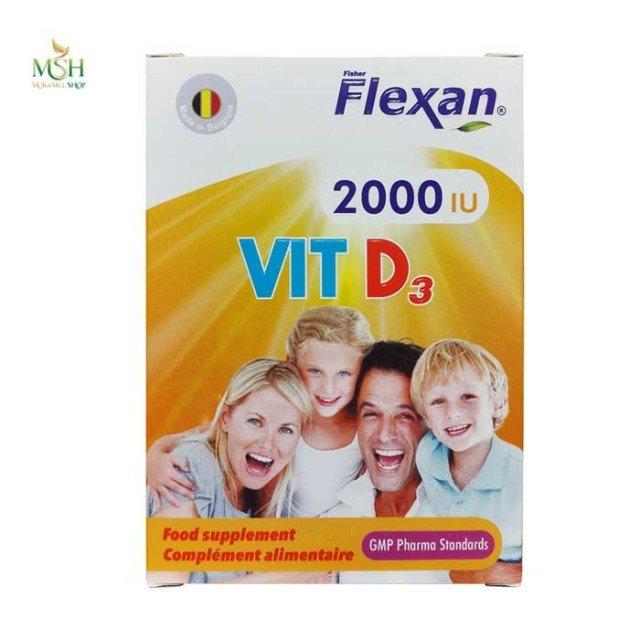 ویتامین د3 2000 فیشر فلکسان   Fisher Flexan Vitamin D3 2000