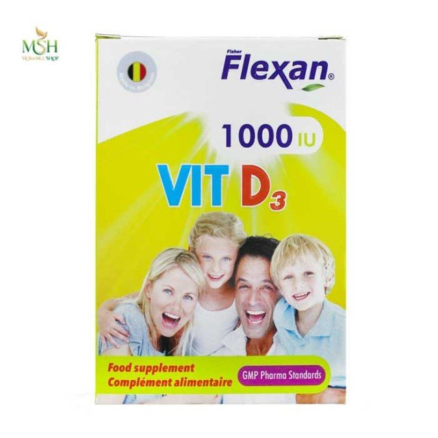 کپسول ویتامین د3 1000 فیشر فلکسان | Fisher Flexan Vitamin D3 1000
