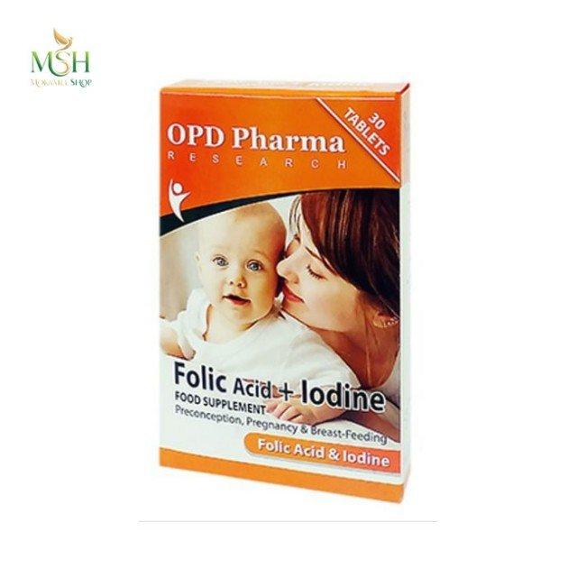 فولیک اسید و ید او پی دی فارما | OPD Pharma Folic Acid And Iodine