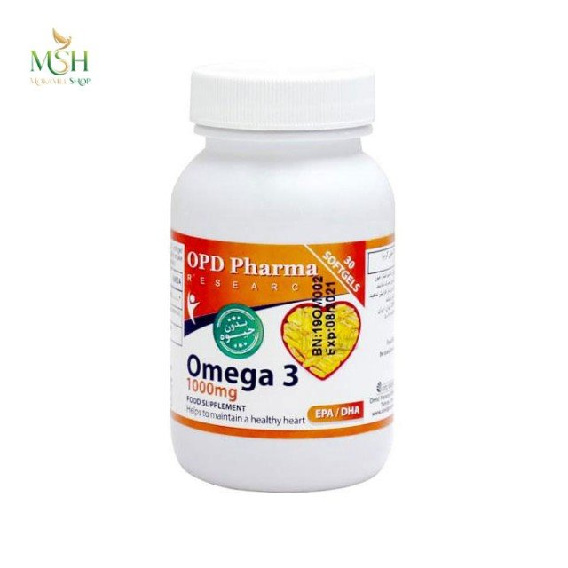 امگا 3 1000 میلی گرم او پی دی فارما | OPD Pharma Omega 3 1000 mg
